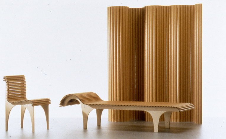 The Carta Furniture Series Is Made With Plywood Legs And A Seating Surface  Comprised Of Small Paper Tubes. The Series Includes A Chair, Stool, Chaise  Lounge ...