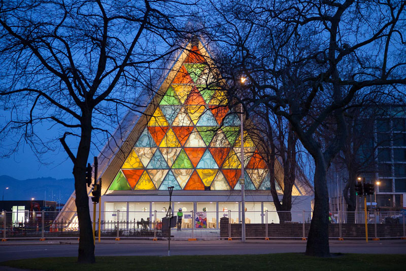 Front of the Cardboard Cathedral © Bridgit Anderson
