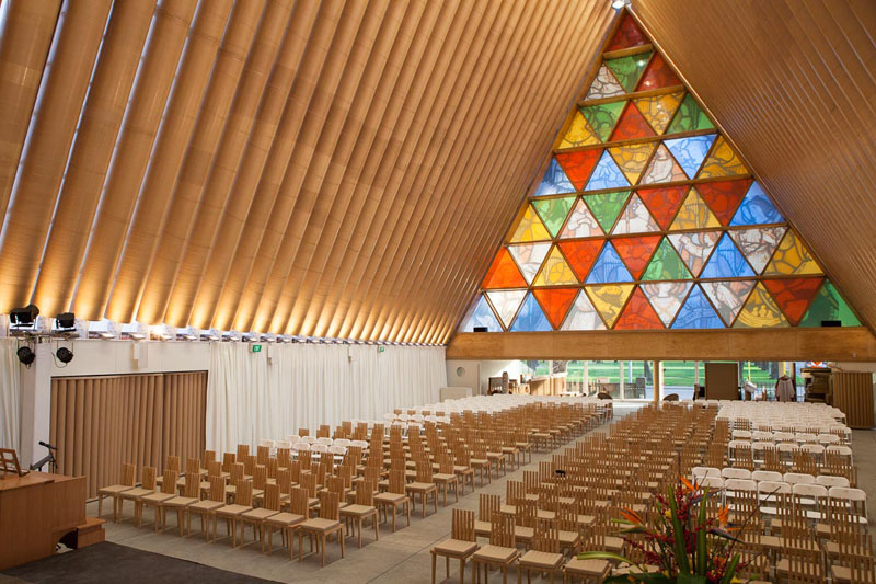 Inside the Cardboard Cathedral © Bridgit Anderson